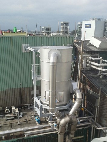 Filter After Spray Dryer Sticky Products, Emulgator - Bulk Solids Industry - Poeth Solids Processing - Tegelen