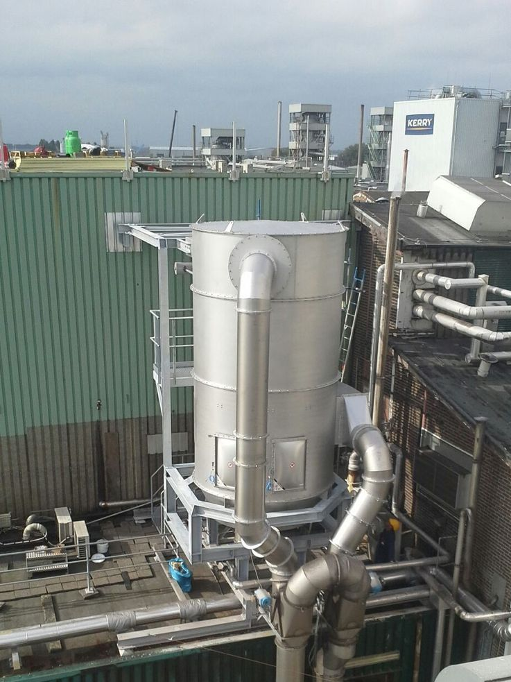 Dustfilters - Cyclone Tube-filter - Poeth Solids Processing - Tegelen