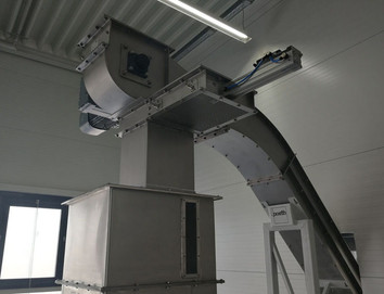 Z-Conveyor Stainless Steel - Food Industry - Poeth Solids Processing - Tegelen