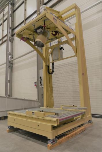 Big-bag filling with tiltable filling head - Food Industry - Poeth Solids Processing - Tegelen