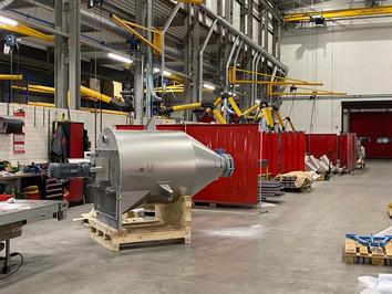 Vertical mixer / homogeniseer hopper - Food Industry - Poeth Solids Processing - Tegelen