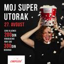 Super utorak 27. avgusta u Cineplexx bioskopima