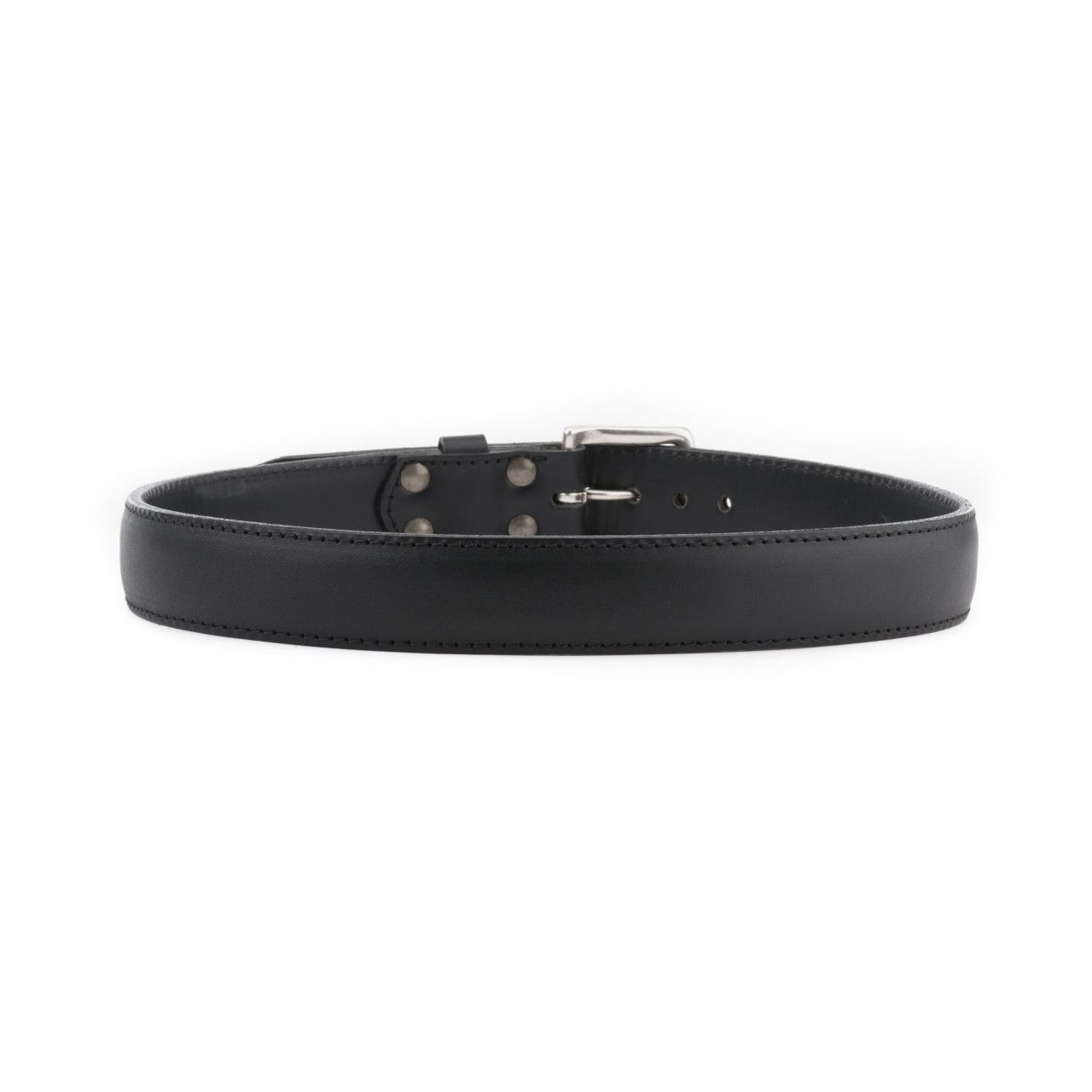 leather tow belt 34 inch in black leather