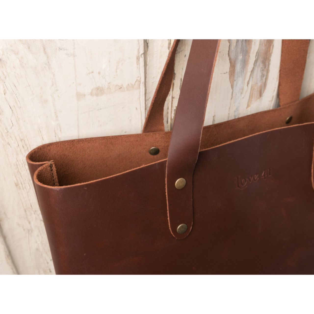 Simple Tote in chestnut