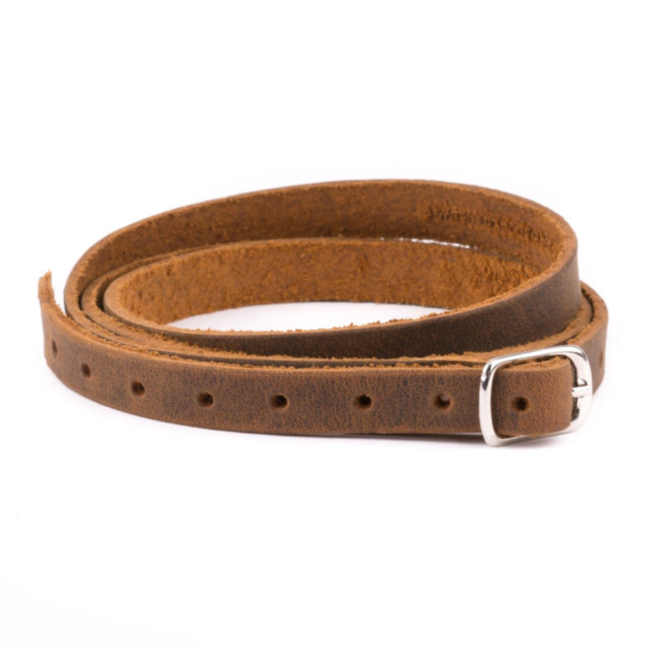 Leather Infinity Wrap Bracelet in tobacco