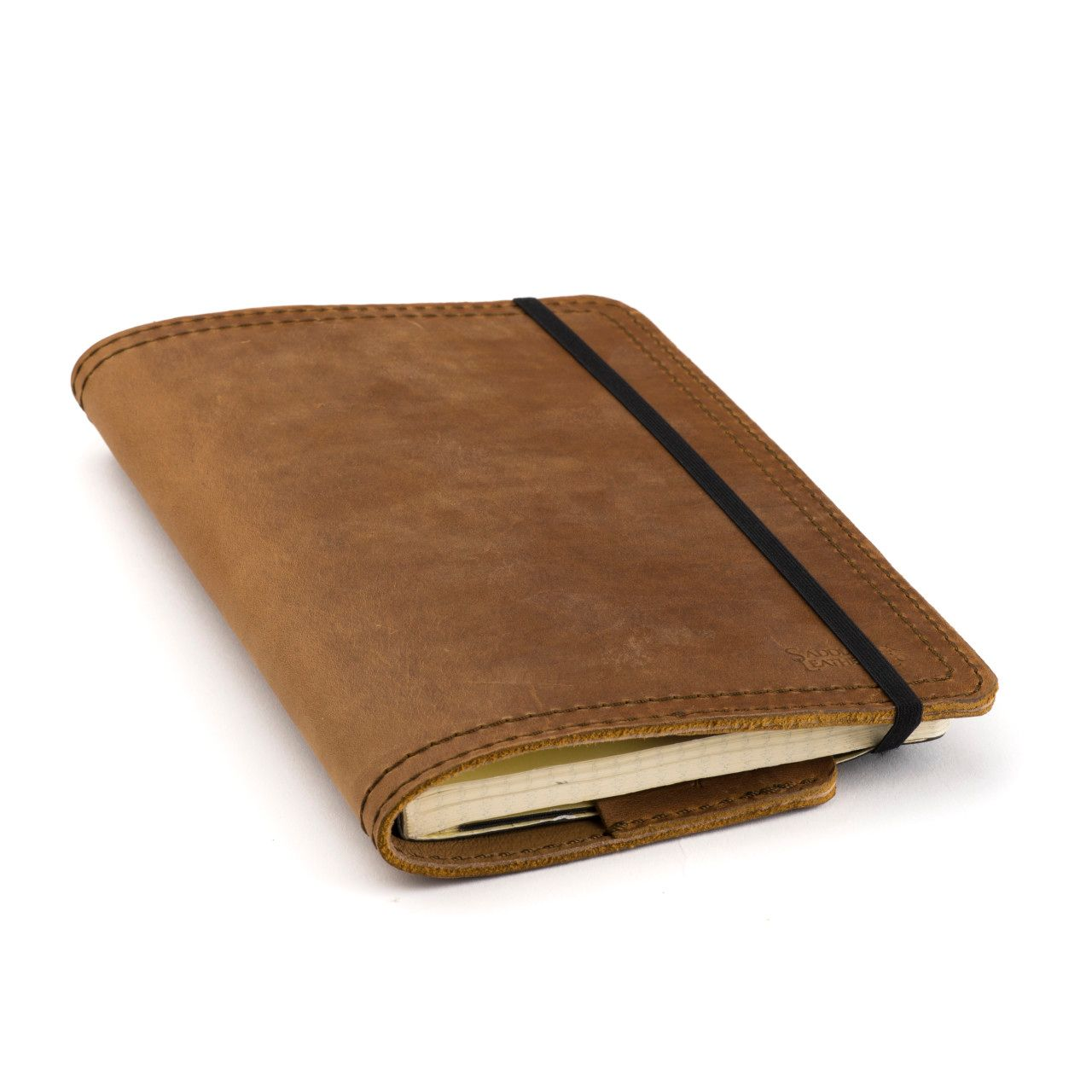 leather notebook cover medium in tobacco leather