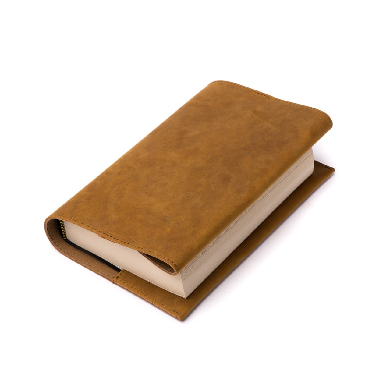 leather book cover medium in tobacco leather