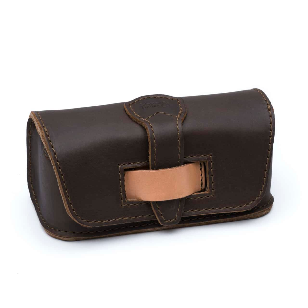 Hard Sunglass Case - Dark Coffee Brown