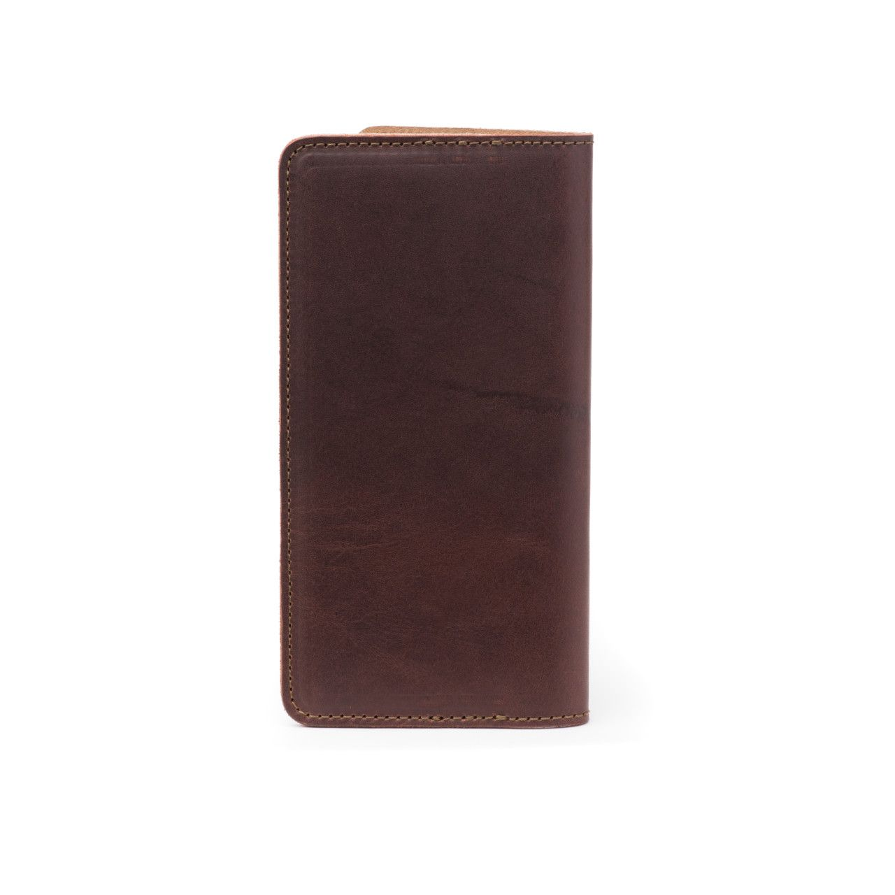 long leather passport wallet medium in chestnut leather