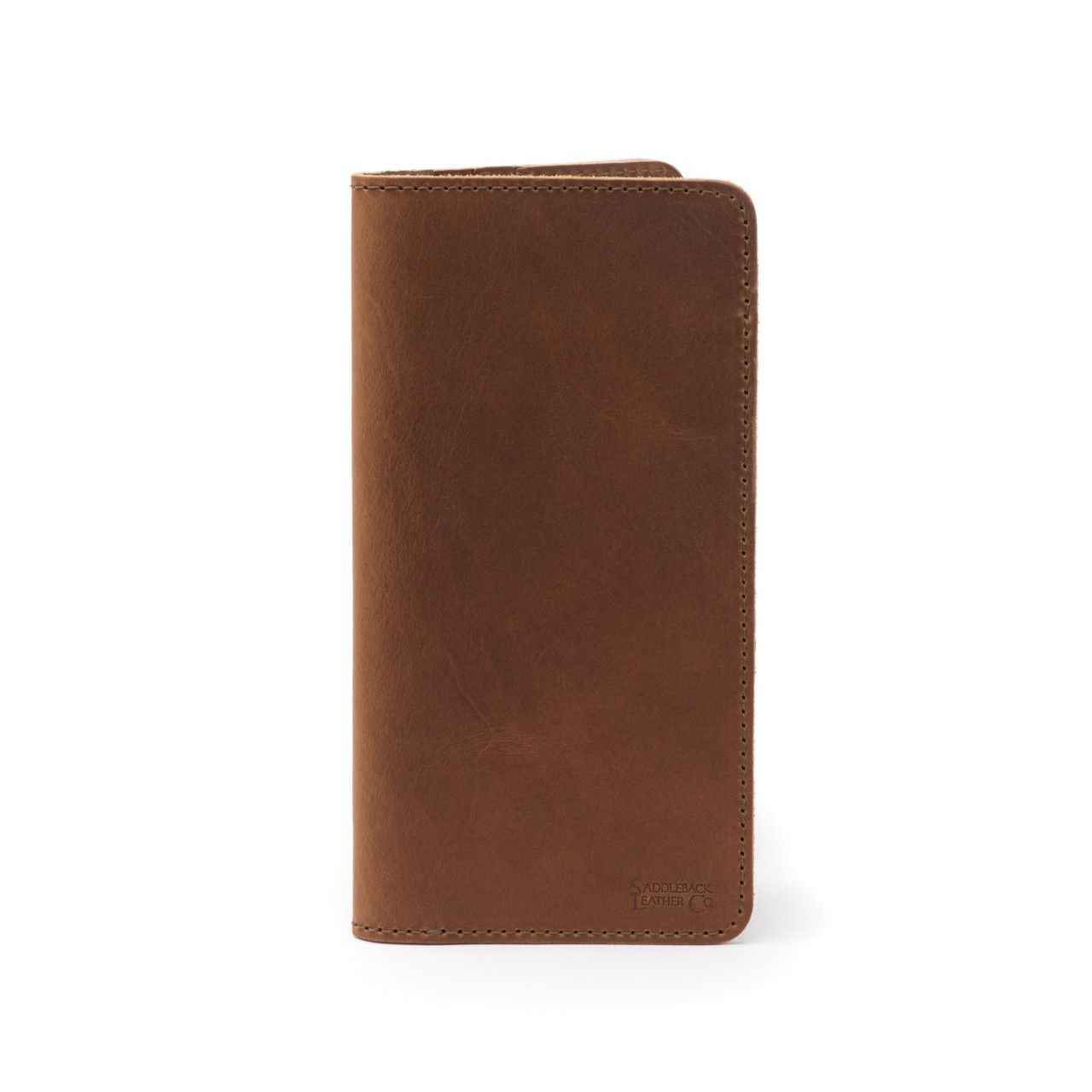 long leather passport wallet medium in tobacco leather