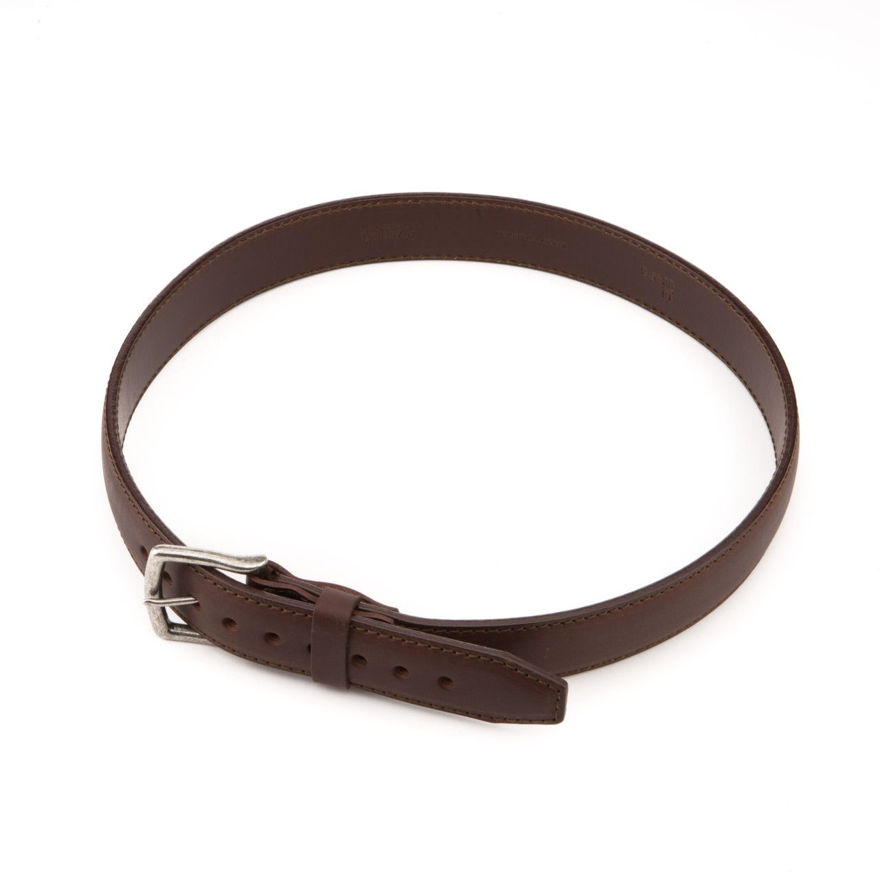 leather tow belt in chestnut leather