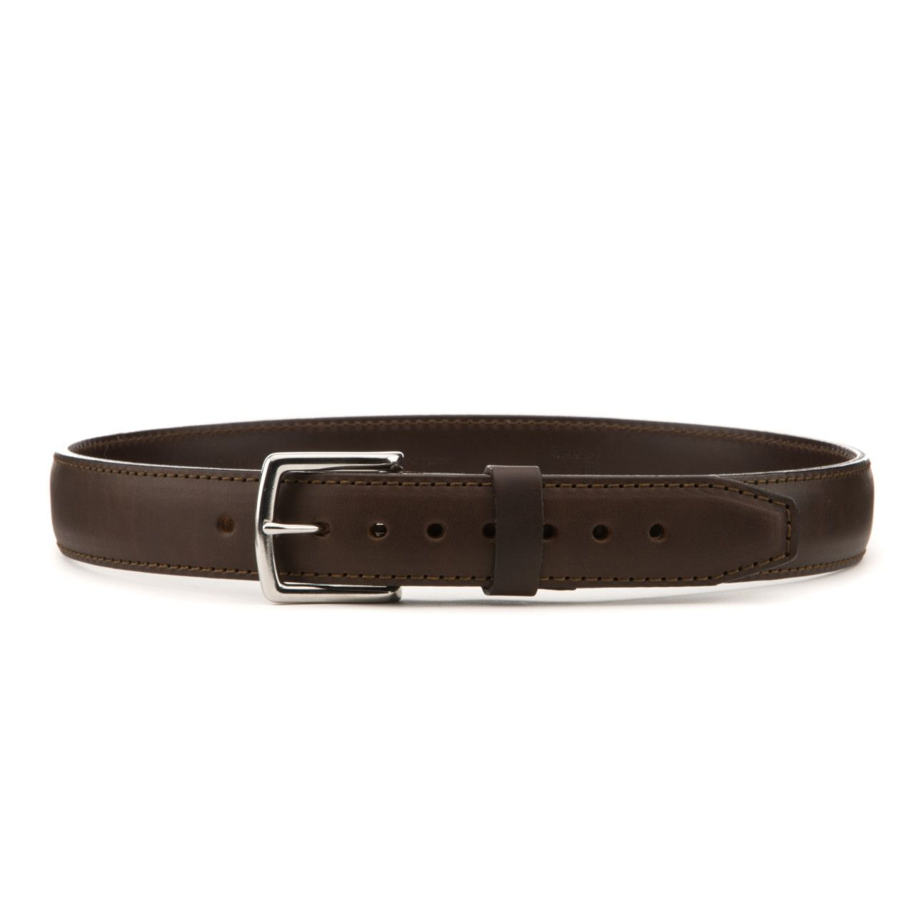 leather tow belt in dark coffee brown leather