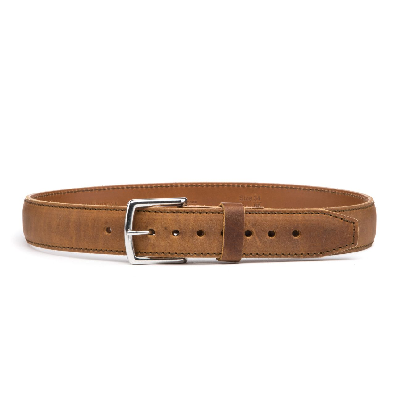 leather tow belt 34 inch in tobacco leather