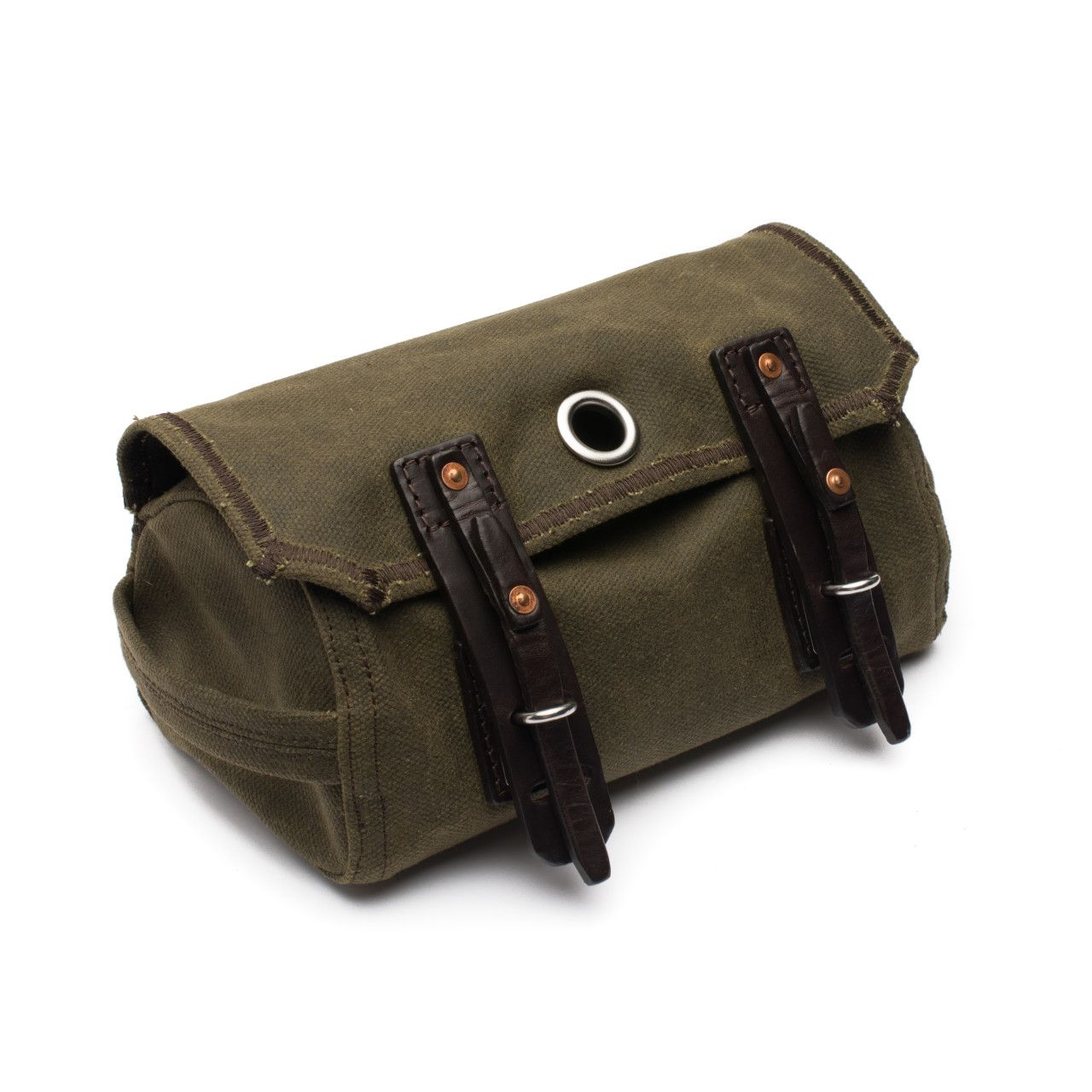 canvas dopp kit medium in moss green canvas