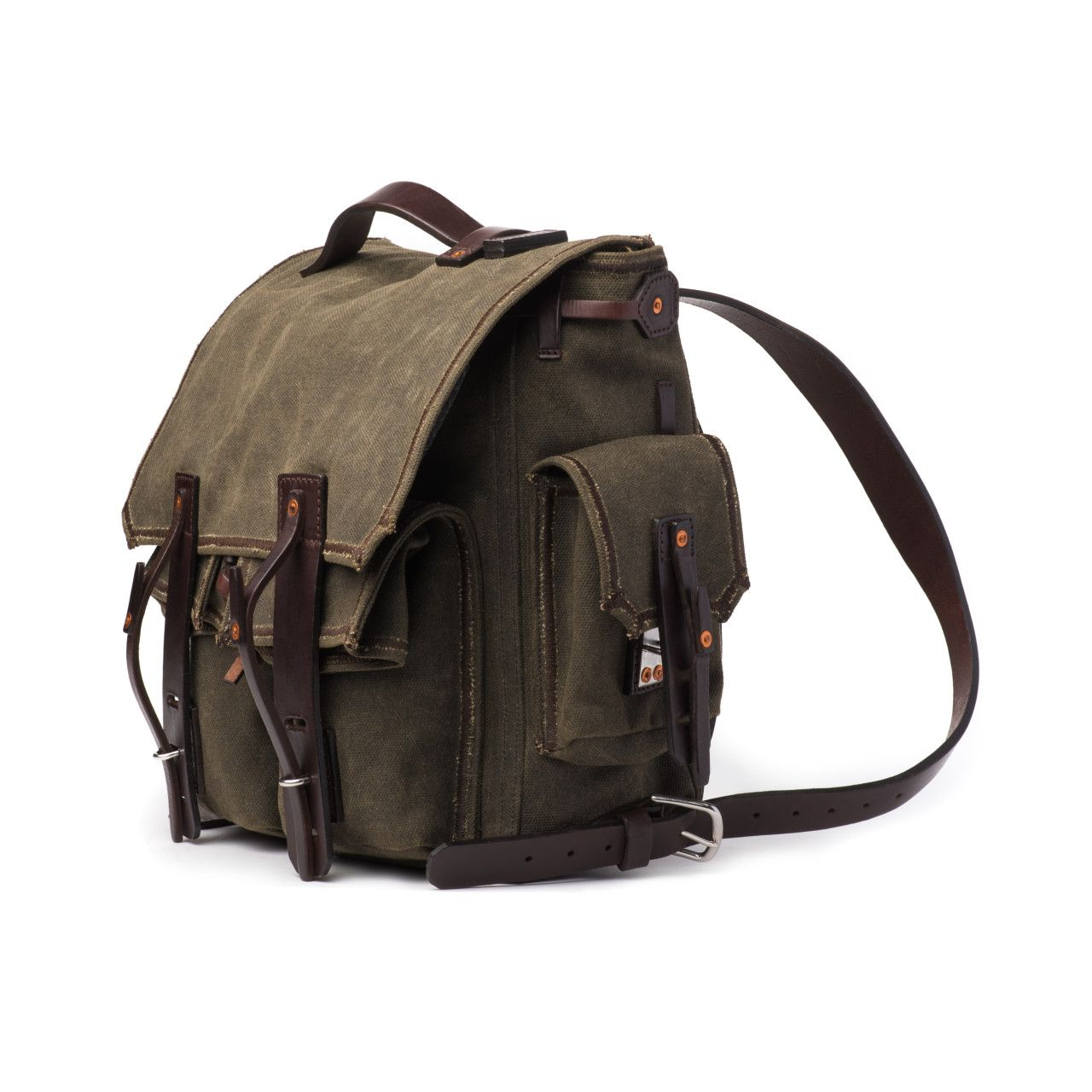 canvas backpack medium in moss green canvas