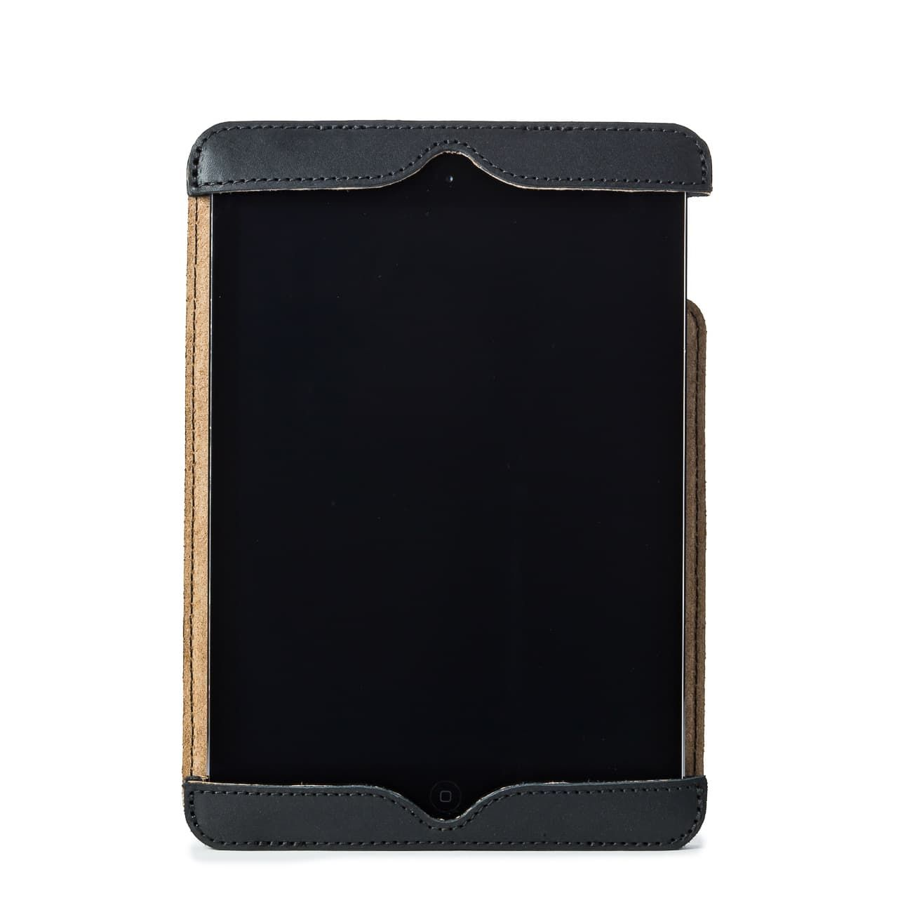 Simple iPad Case in color Black front with an iPad
