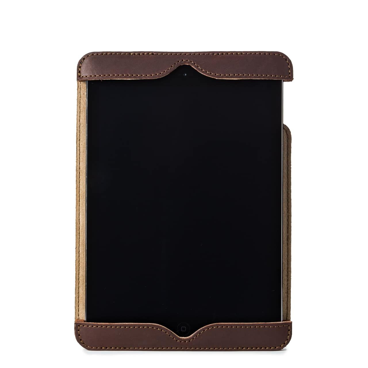 Simple iPad Case in color Chestnut Front with an iPad
