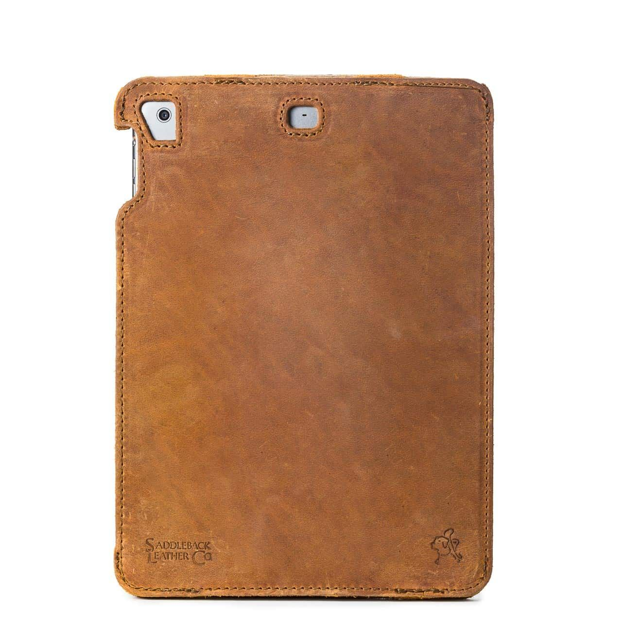 Simple iPad Case in color Tobacco from the back