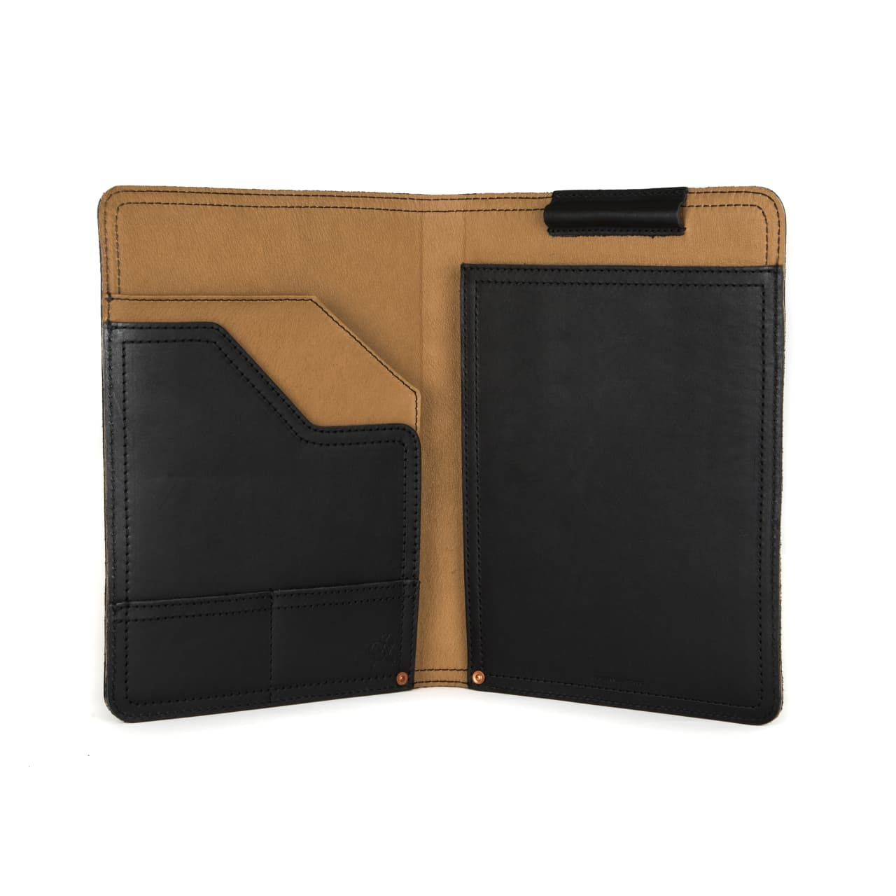 leather notepad cover medium in black leather