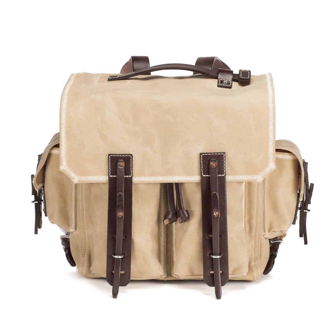 5 Pocket Backpack in Color Sand Front
