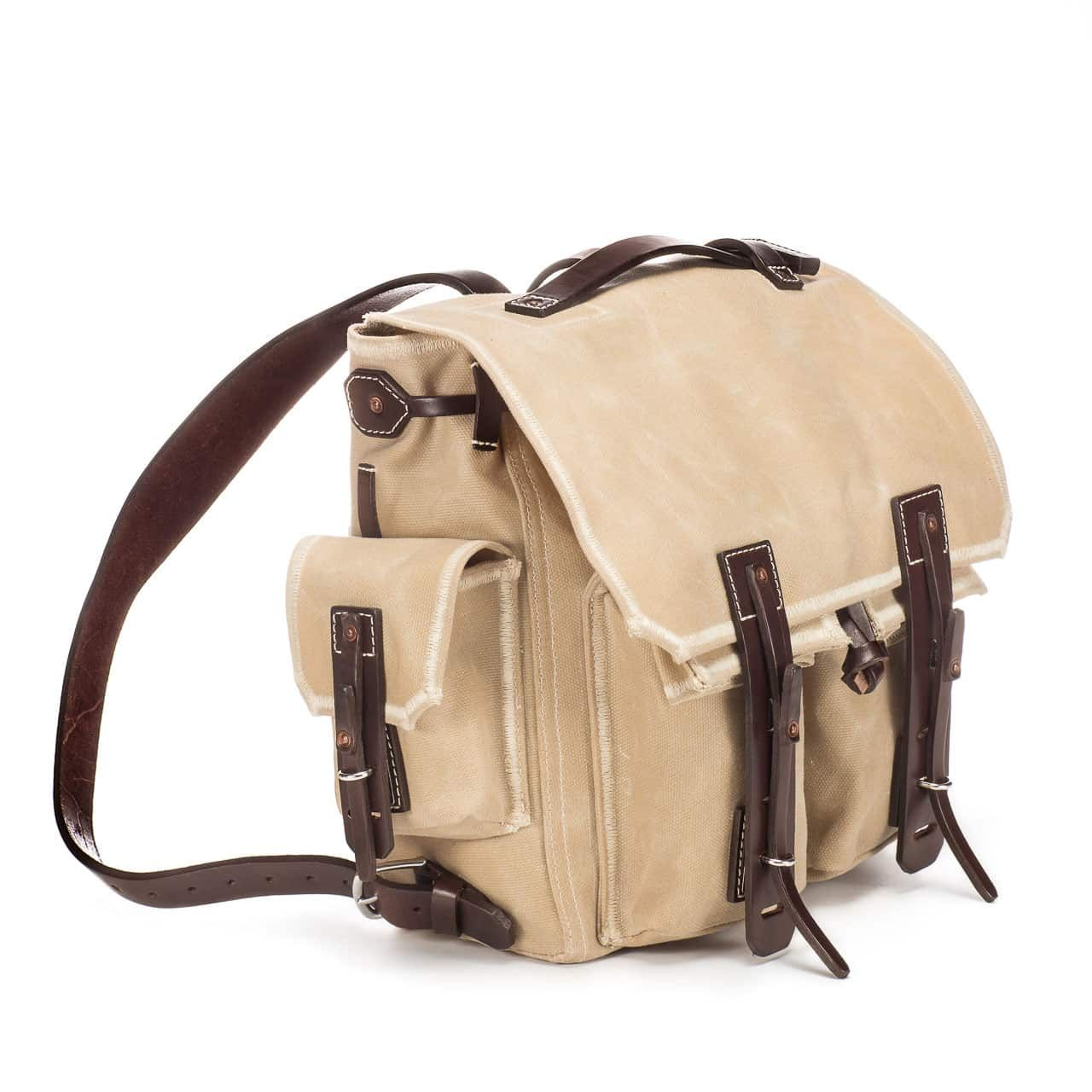 5 Pocket Backpack in Color Sand Front Angle