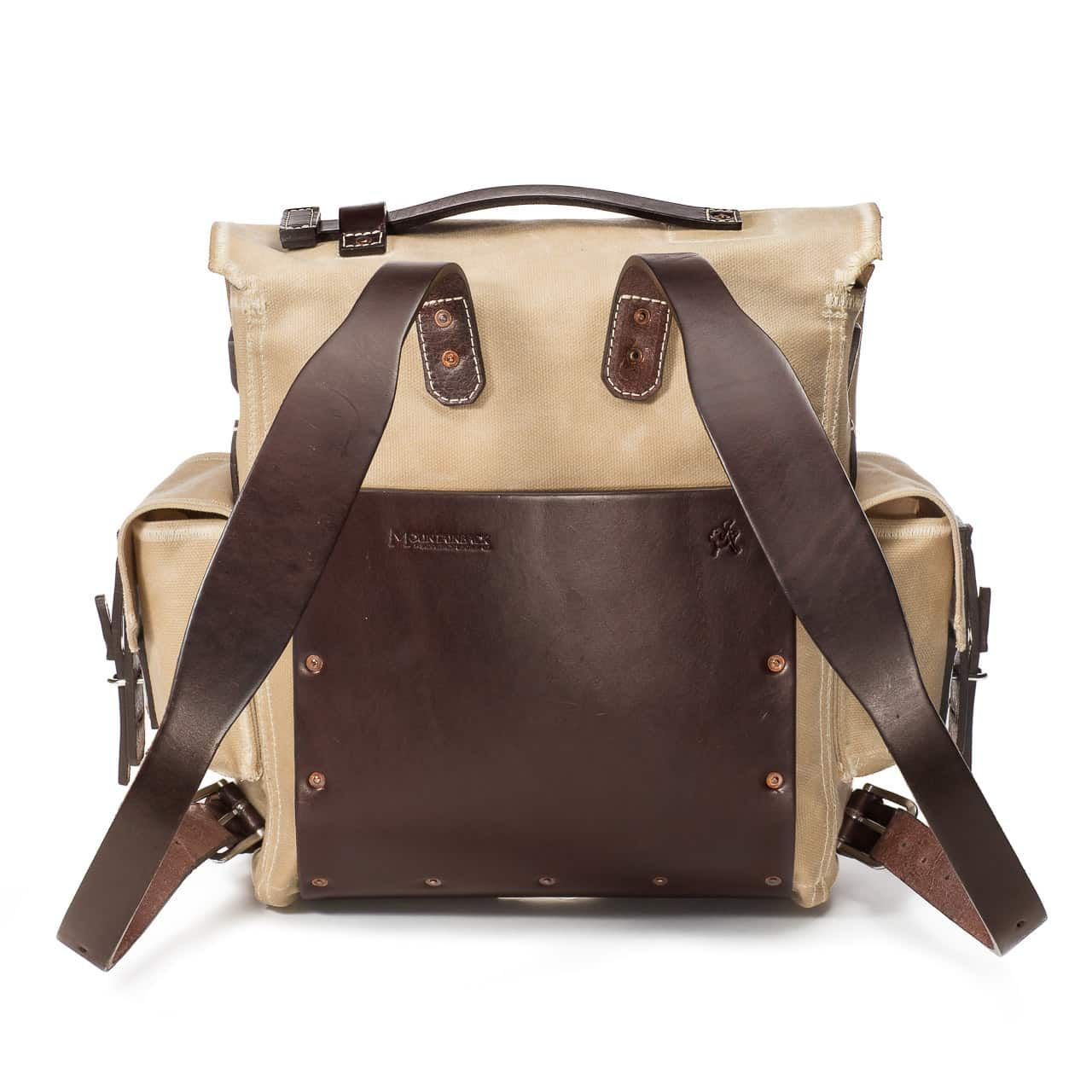 5 Pocket Backpack in Color Sand Back