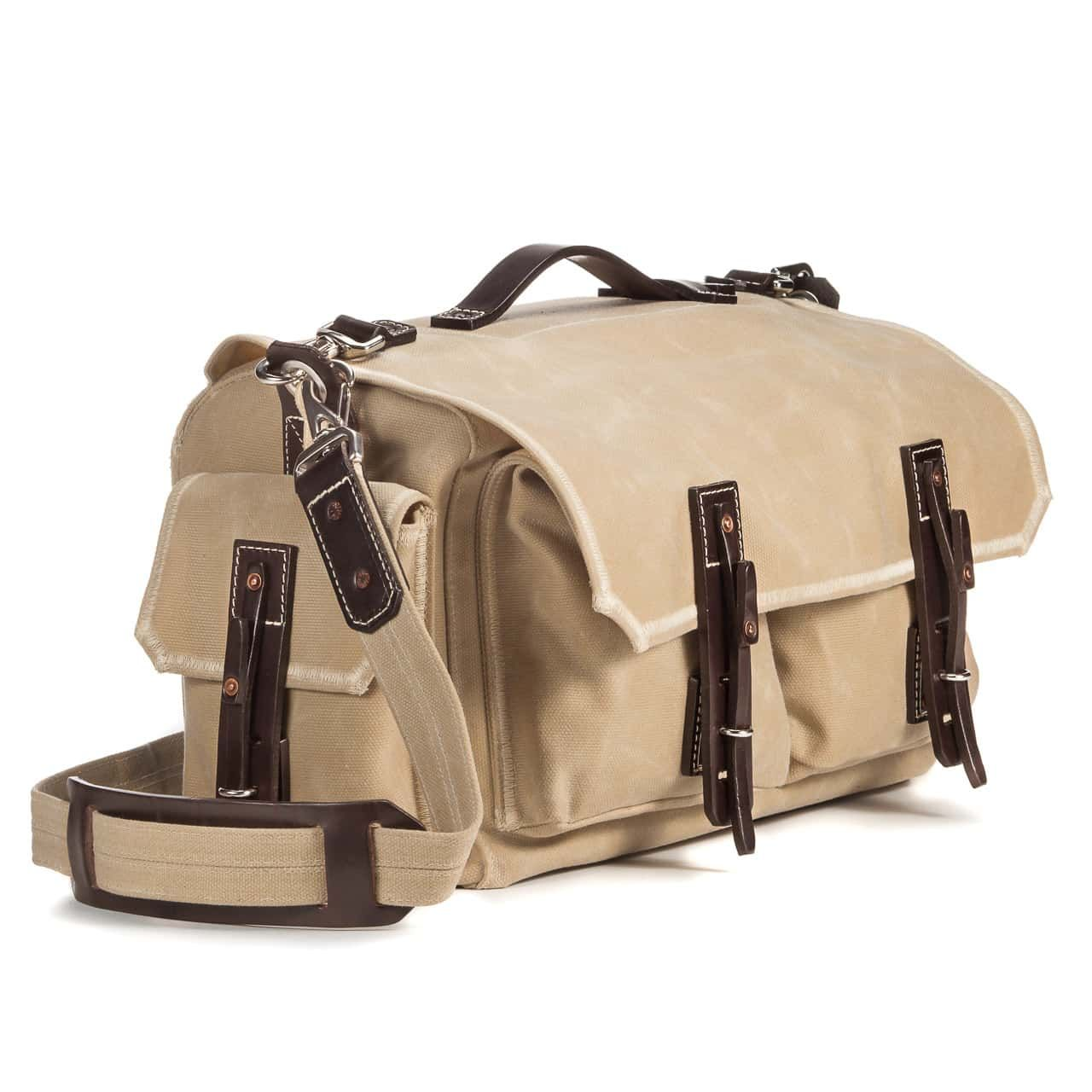 5 Pocket Duffel in Color Sand Front Angle