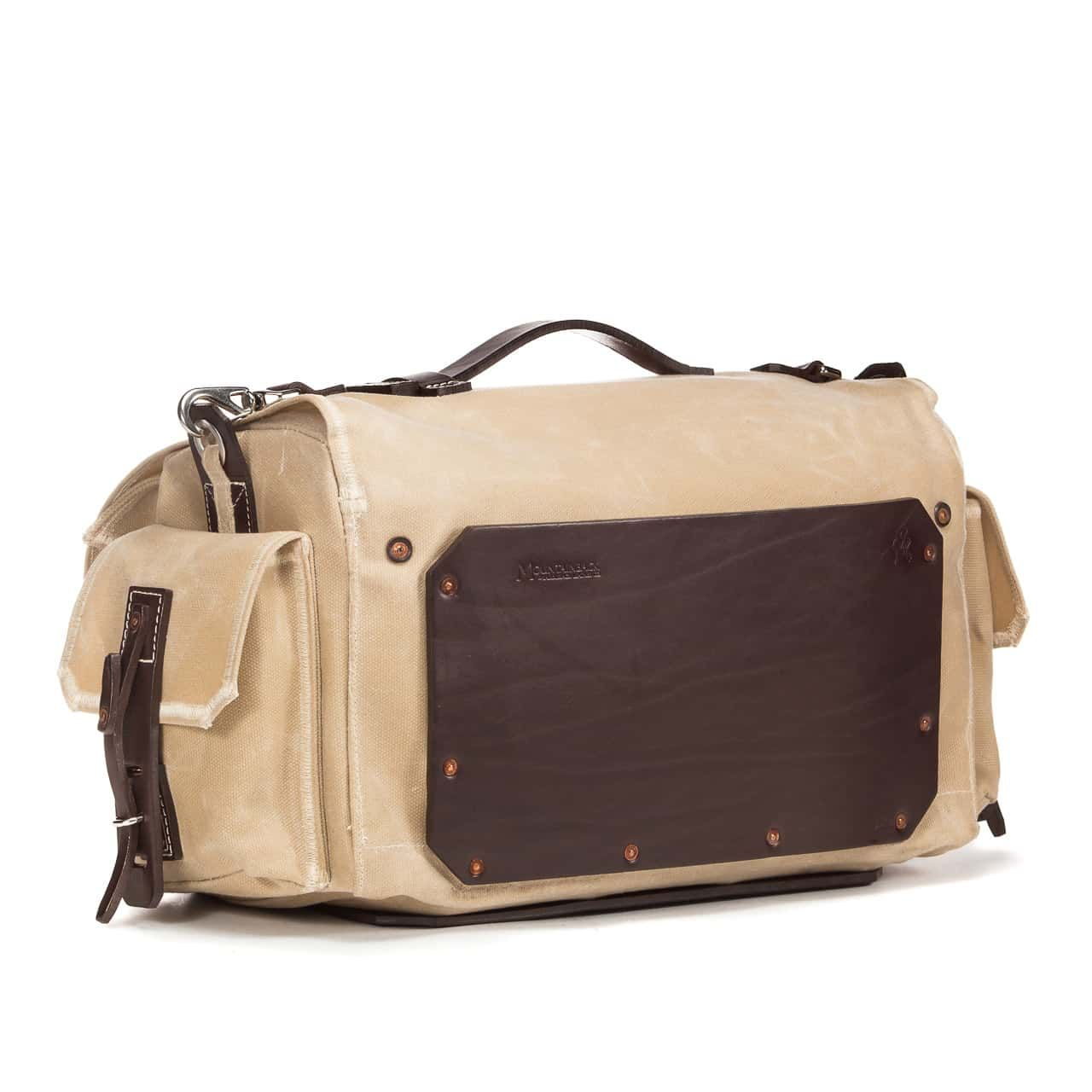 5 Pocket Duffel in Color Sand Back Angle