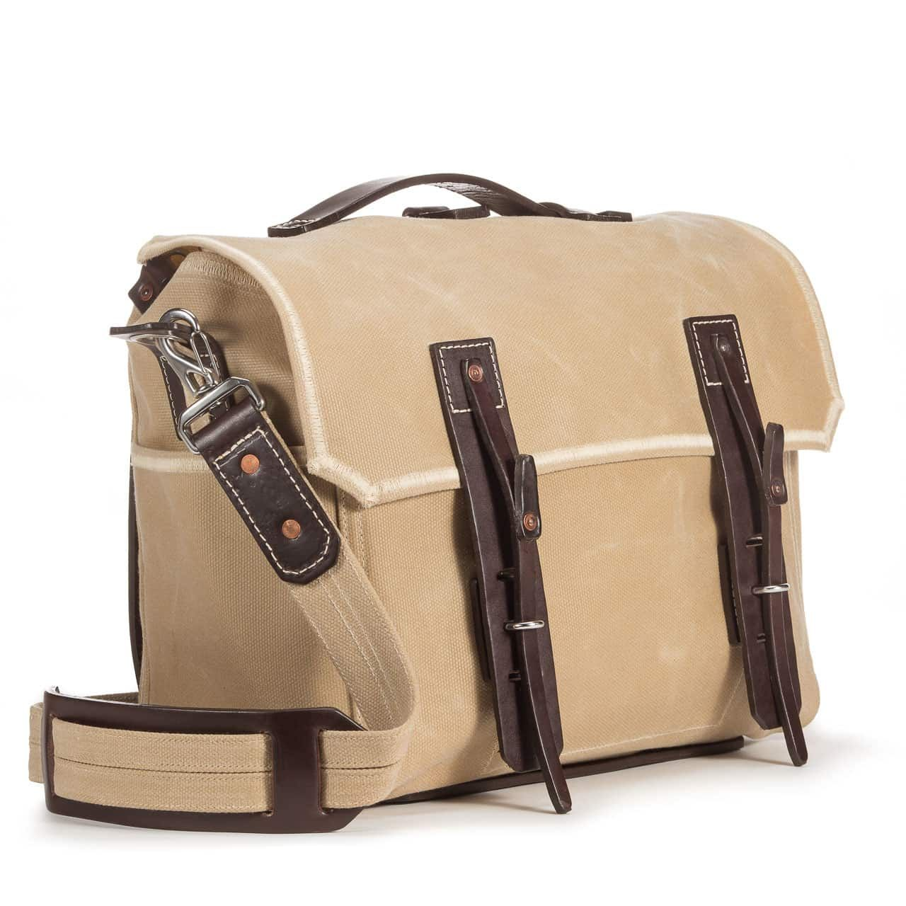 Large Gear Bag in Color Sand Front Angle