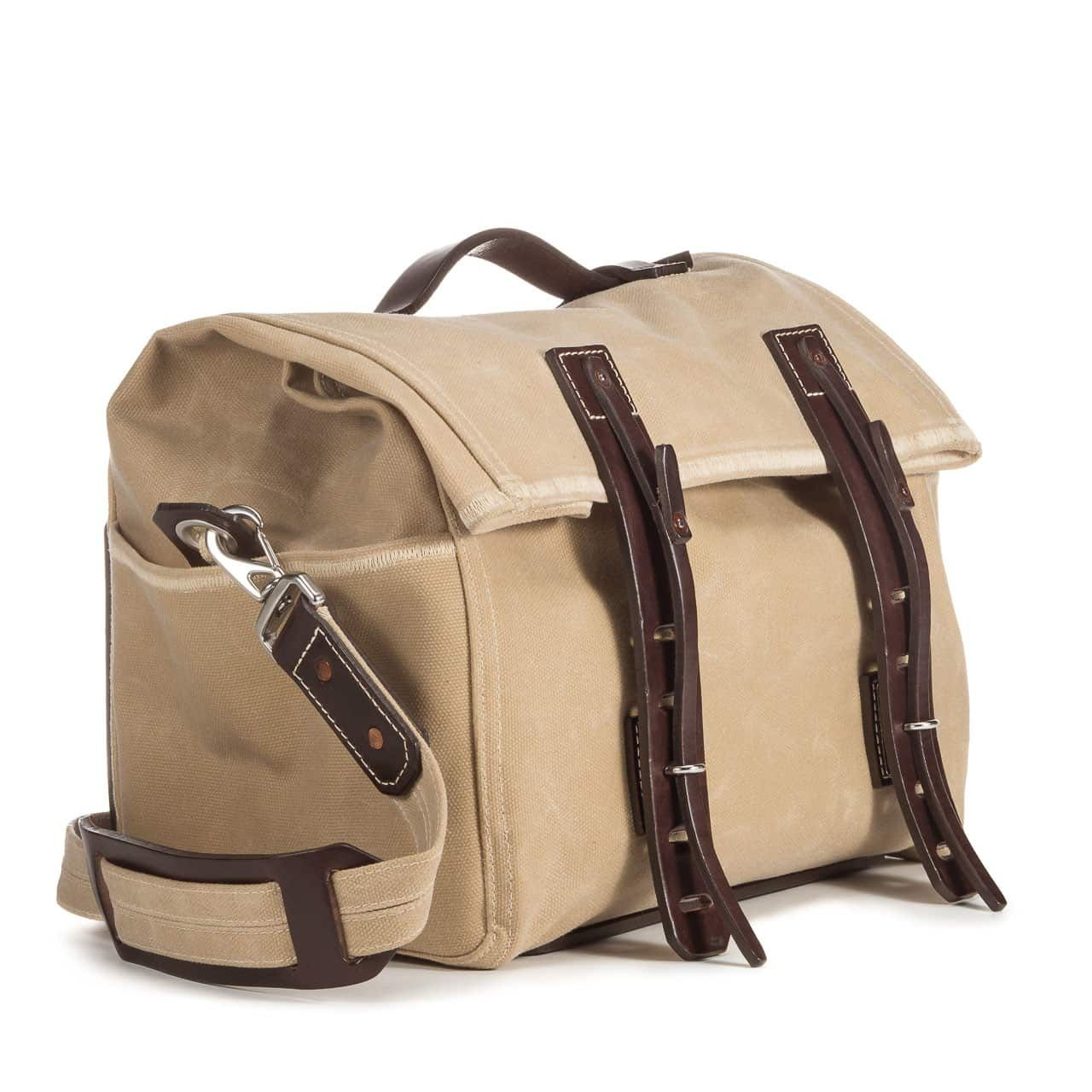 Small Overnight Duffel in Color Sand Front Angle