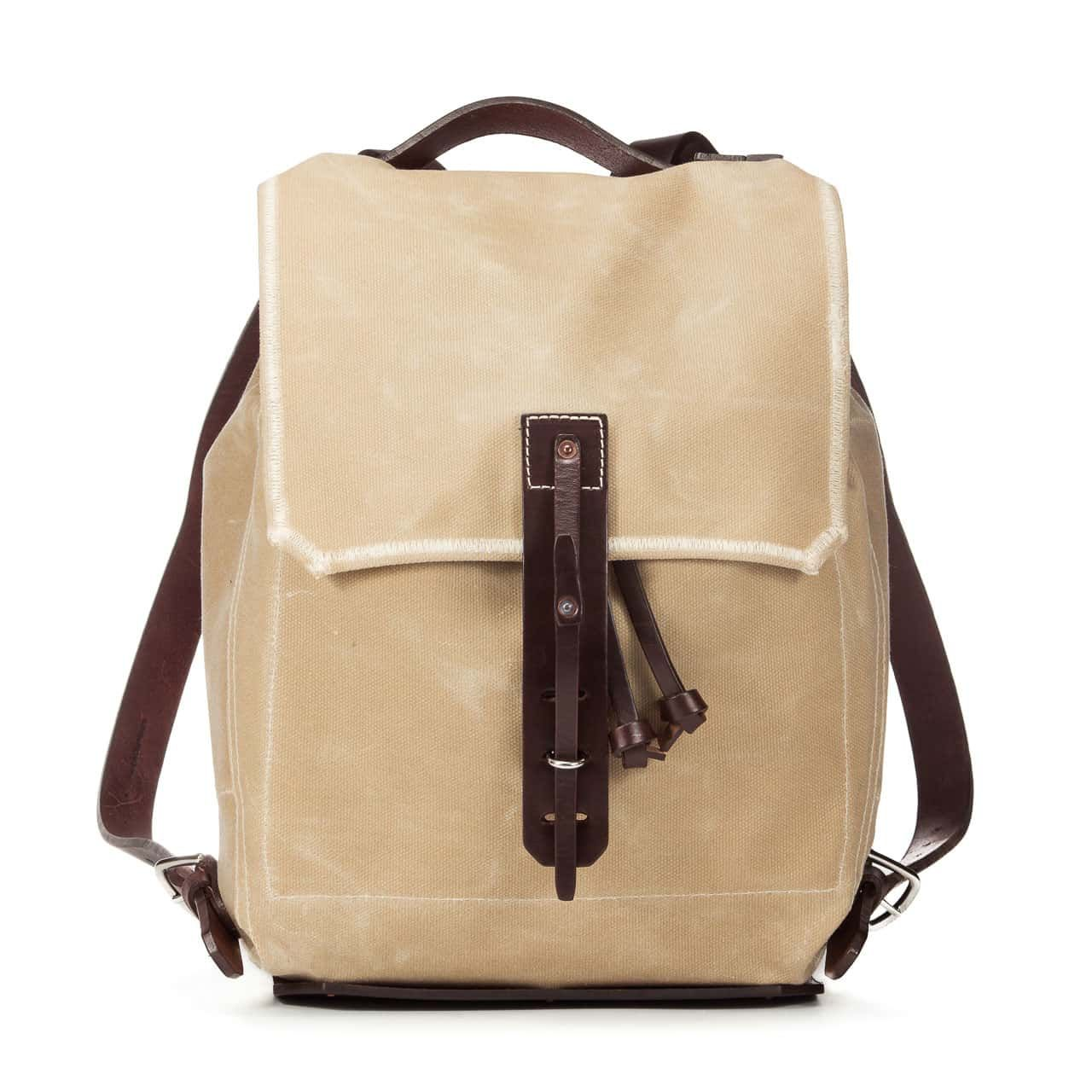 Simple Backpack in Color Sand Front