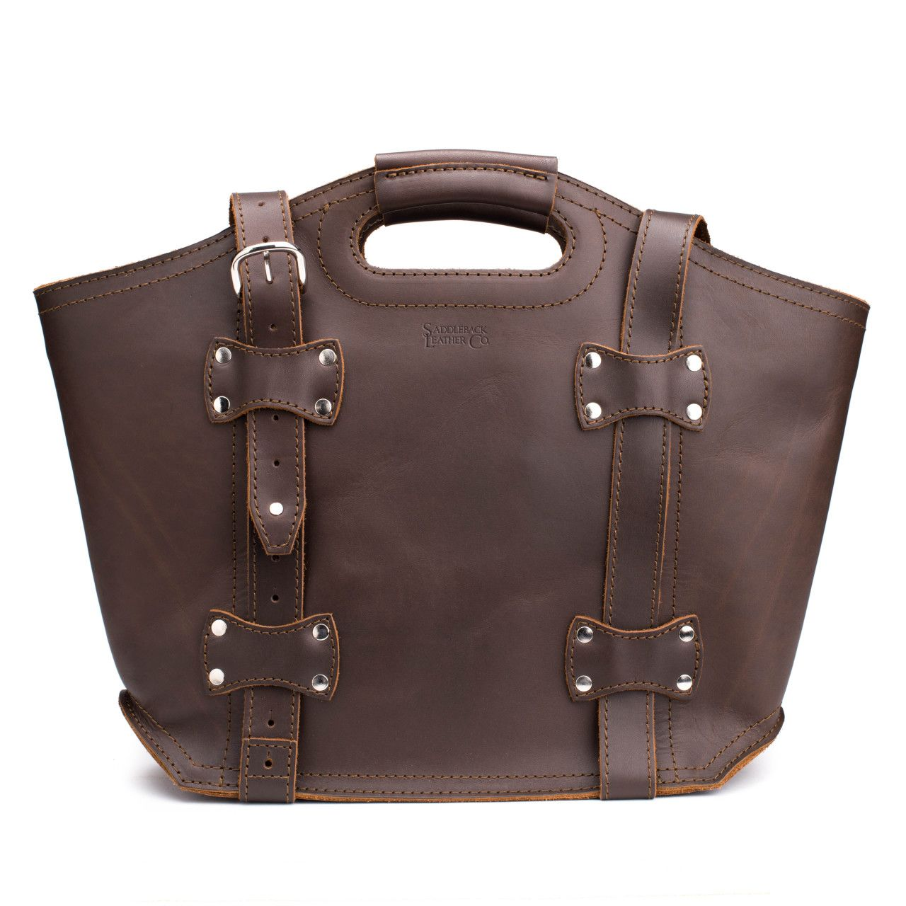 premium leather tote bag large in dark coffee brown leather