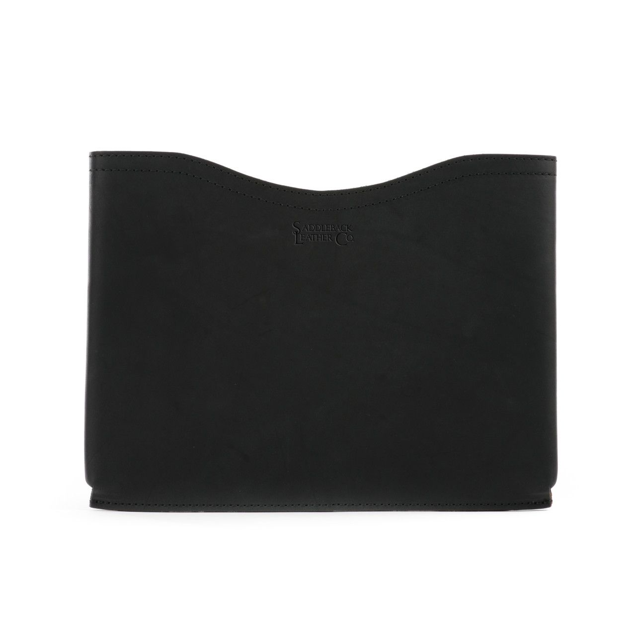 macbook pro leather sleeve small in black leather