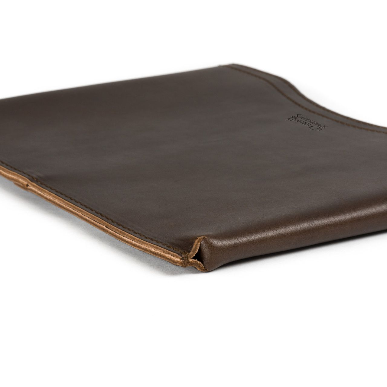 macbook pro leather sleeve small in dark coffee brown leather