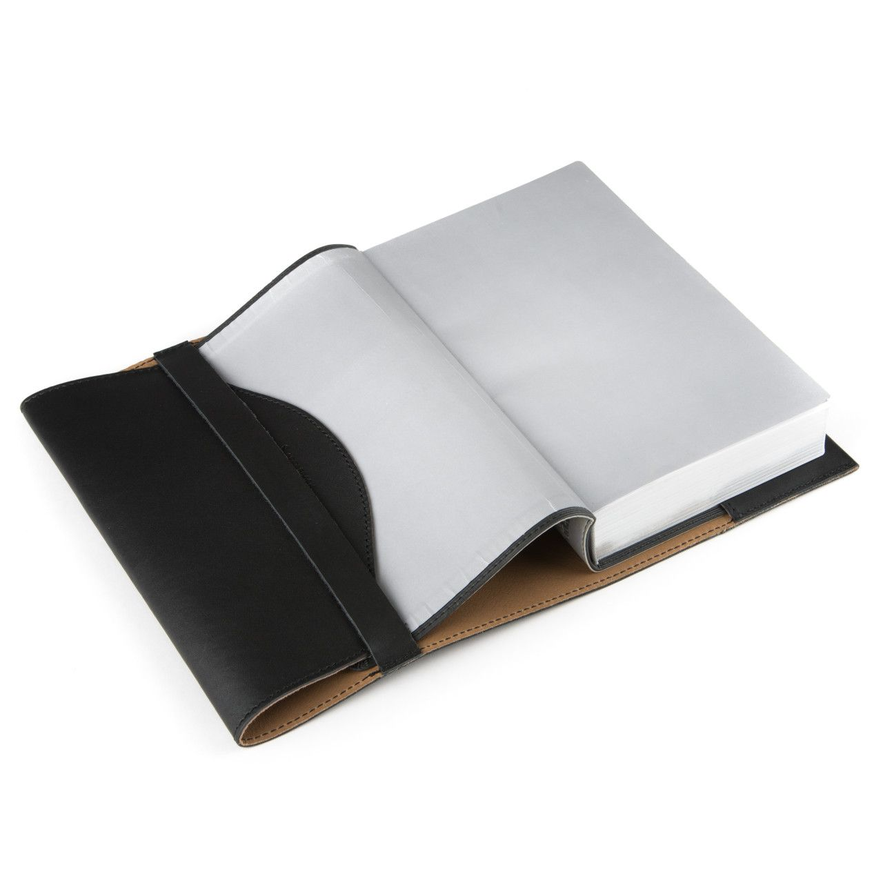 Bible in the leather book cover medium in black leather