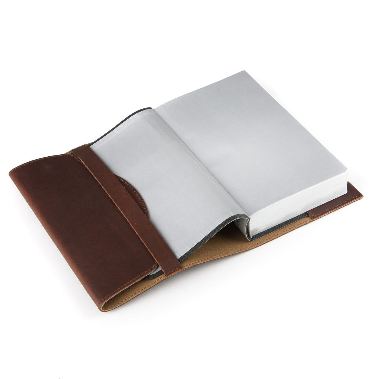 Bible in the leather book cover medium in chestnut leather