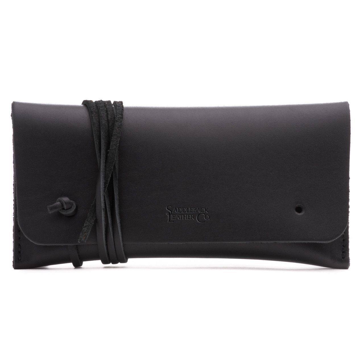 leather sunglass case in black leather