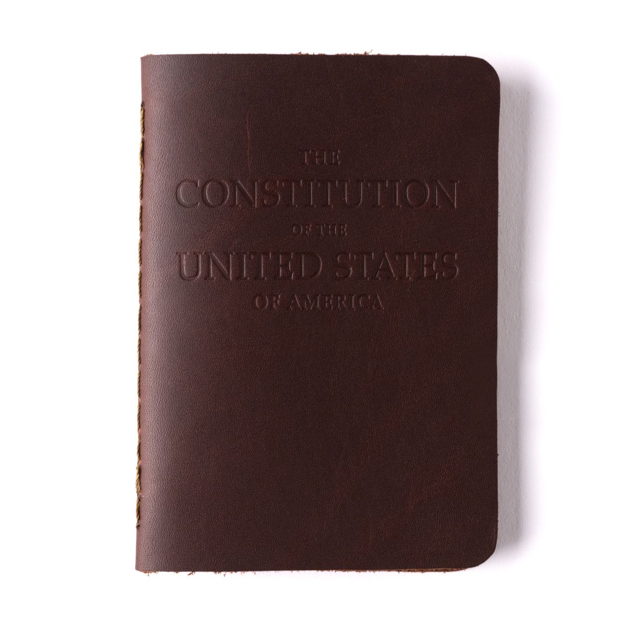 leather bound constitution in chestnut leather
