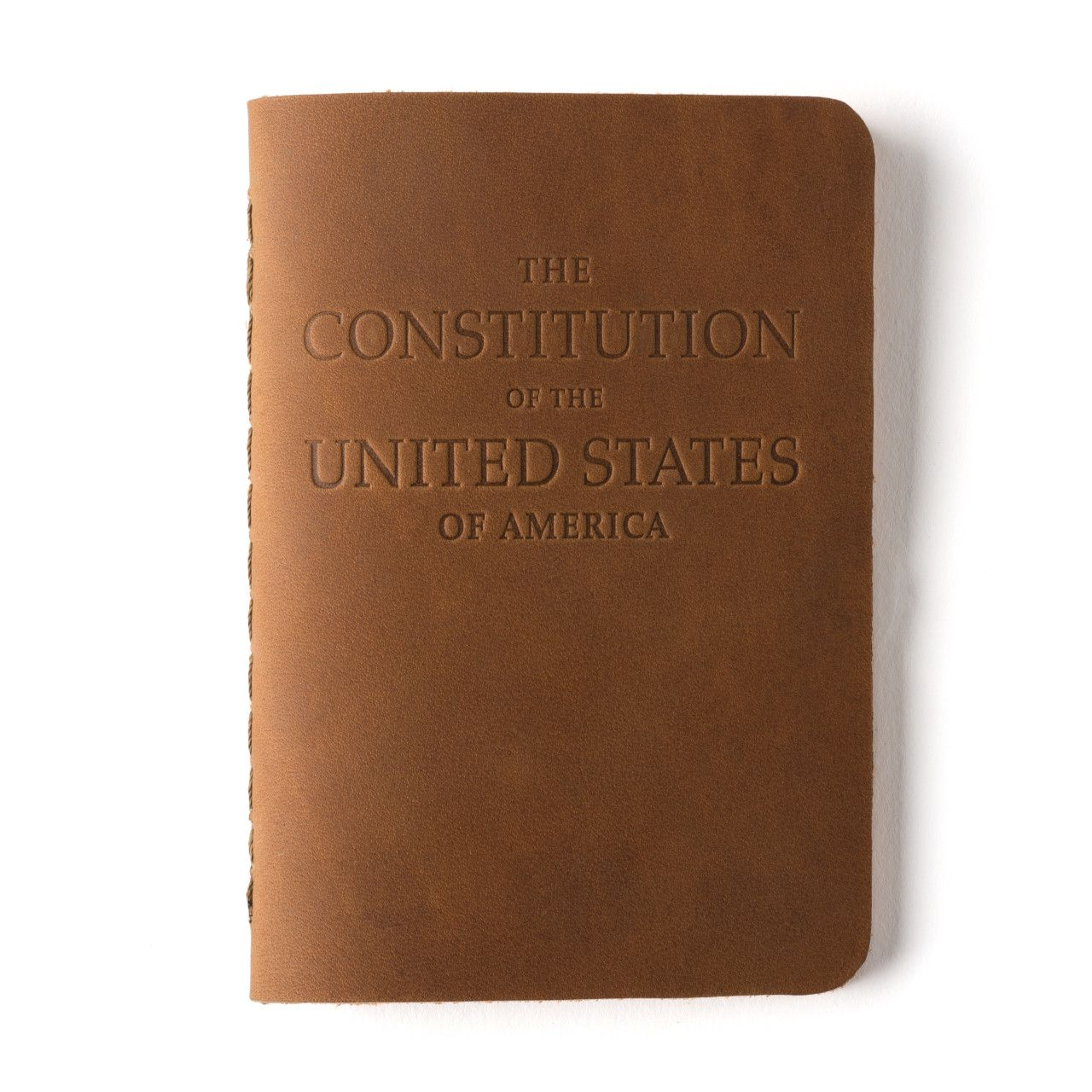 leather bound constitution in tobacco leather