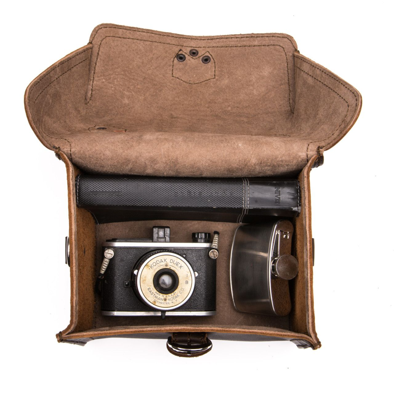 For your most valuable souvenirs suitcase will be leather gadget bag medium in dark coffee brown leather