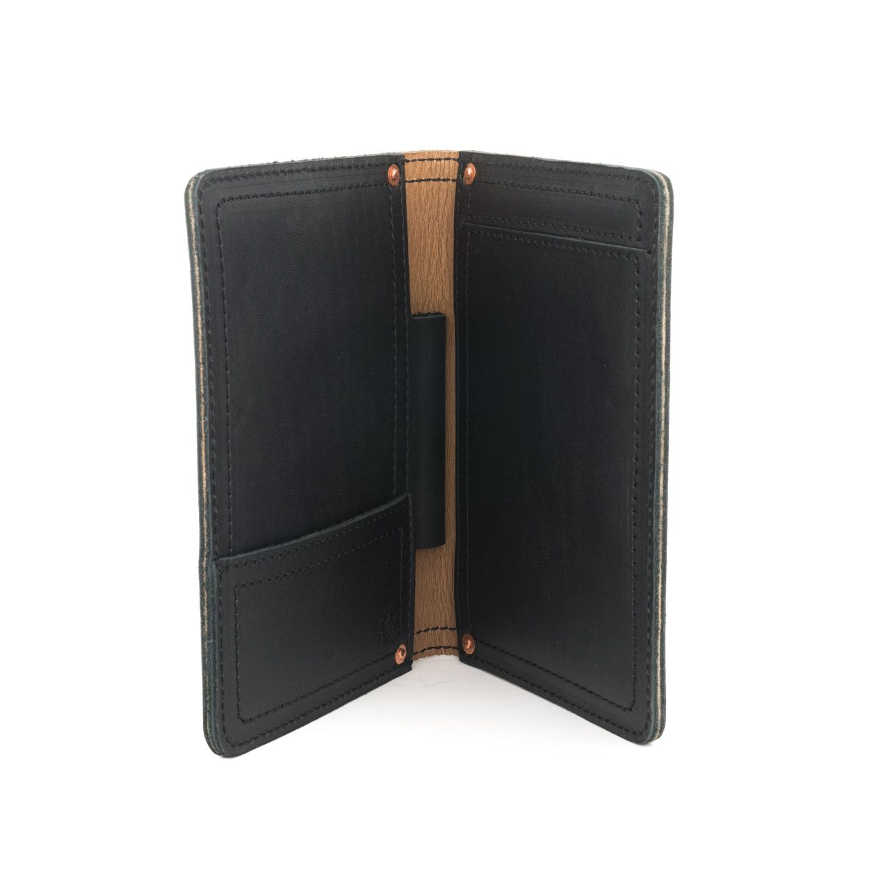 leather notepad cover small in black leather