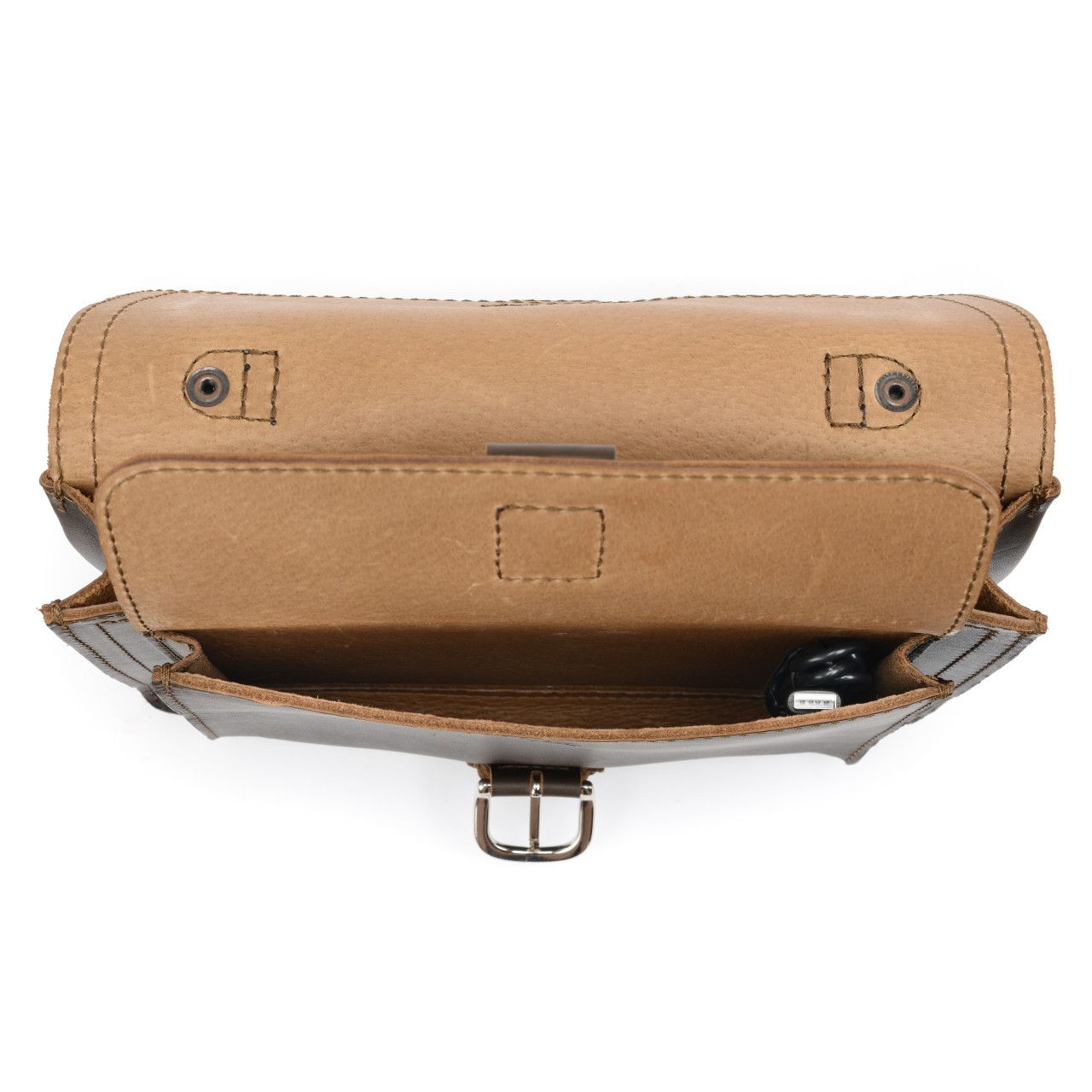 leather tablet messenger bag in dark coffee brown leather