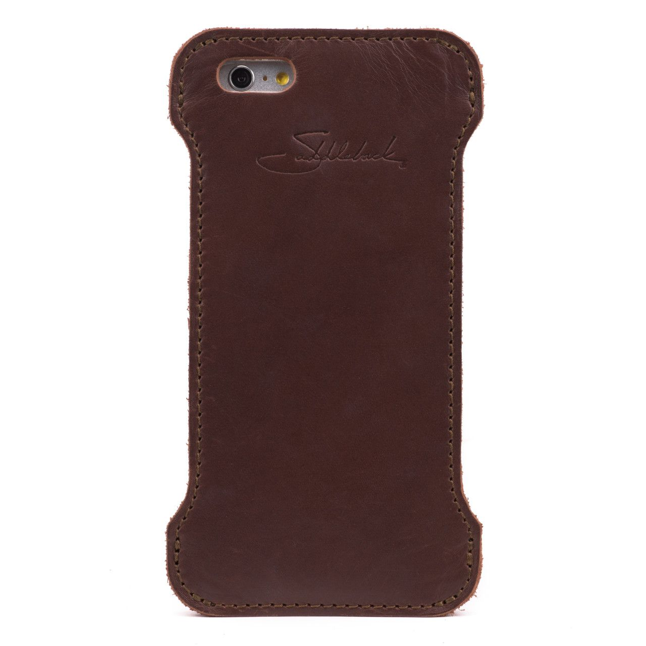 iphone 6 leather case large in chestnut leather
