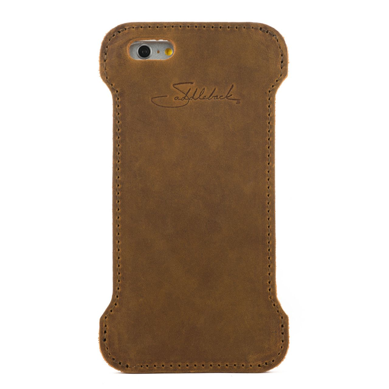 iphone 6 leather case large in tobacco leather
