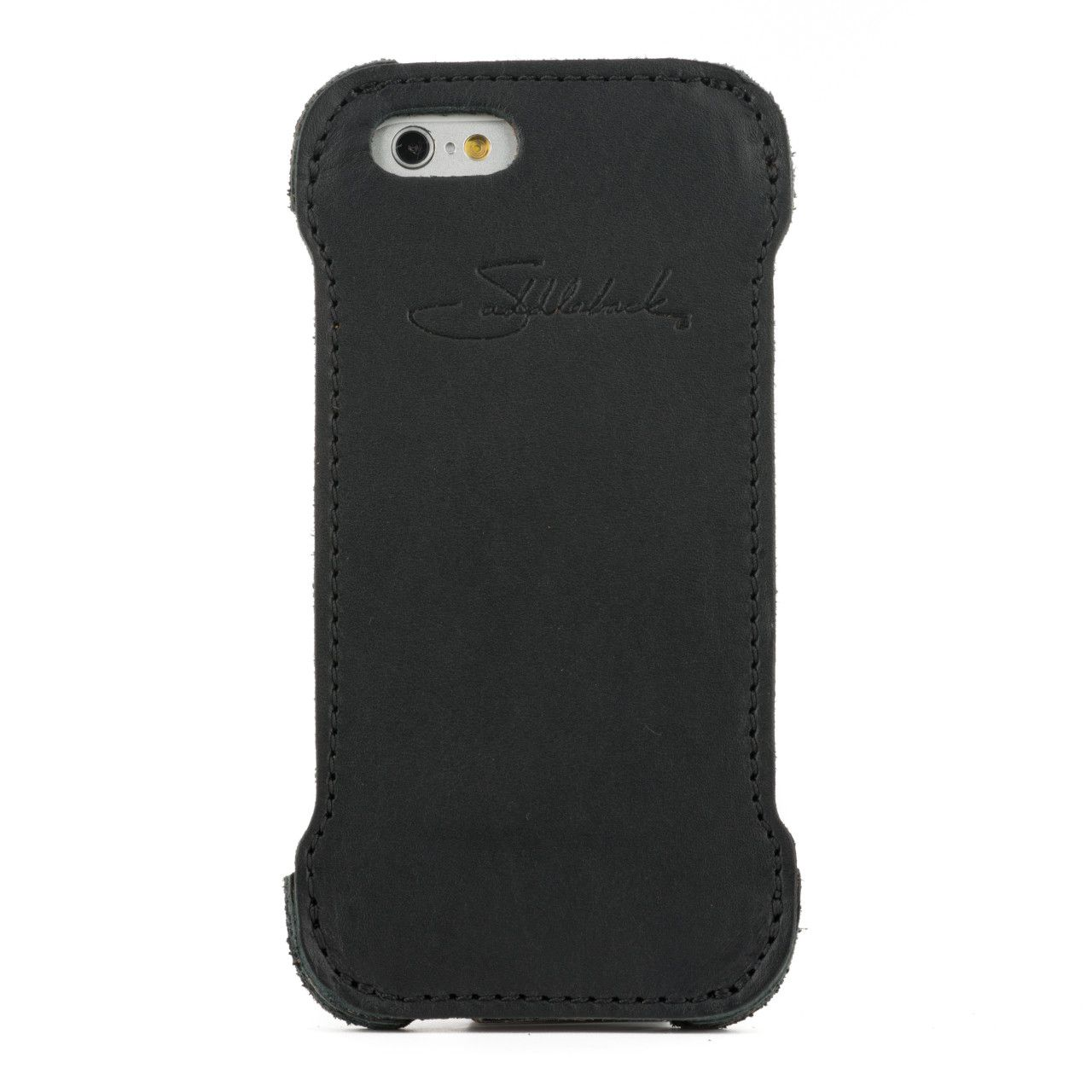 iphone 6 leather case small in black leather