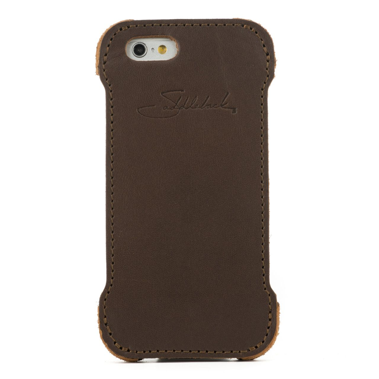 iphone 6 leather case small in dark coffee brown leather