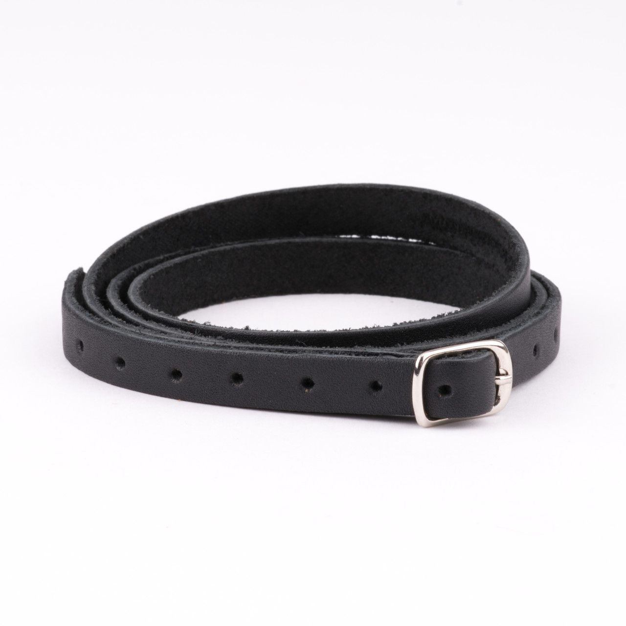 leather wrap bracelet in black leather