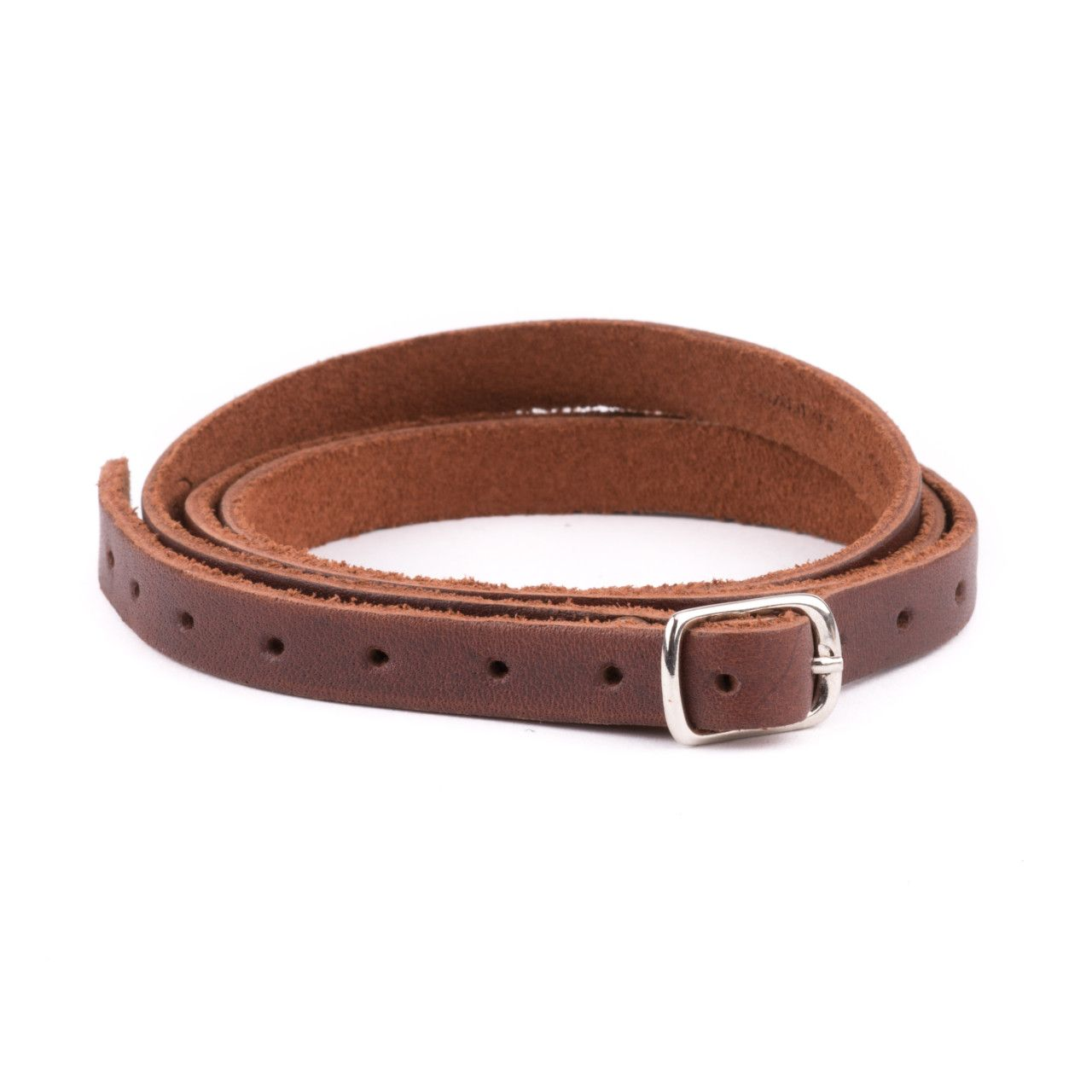 leather wrap bracelet in chestnut leather