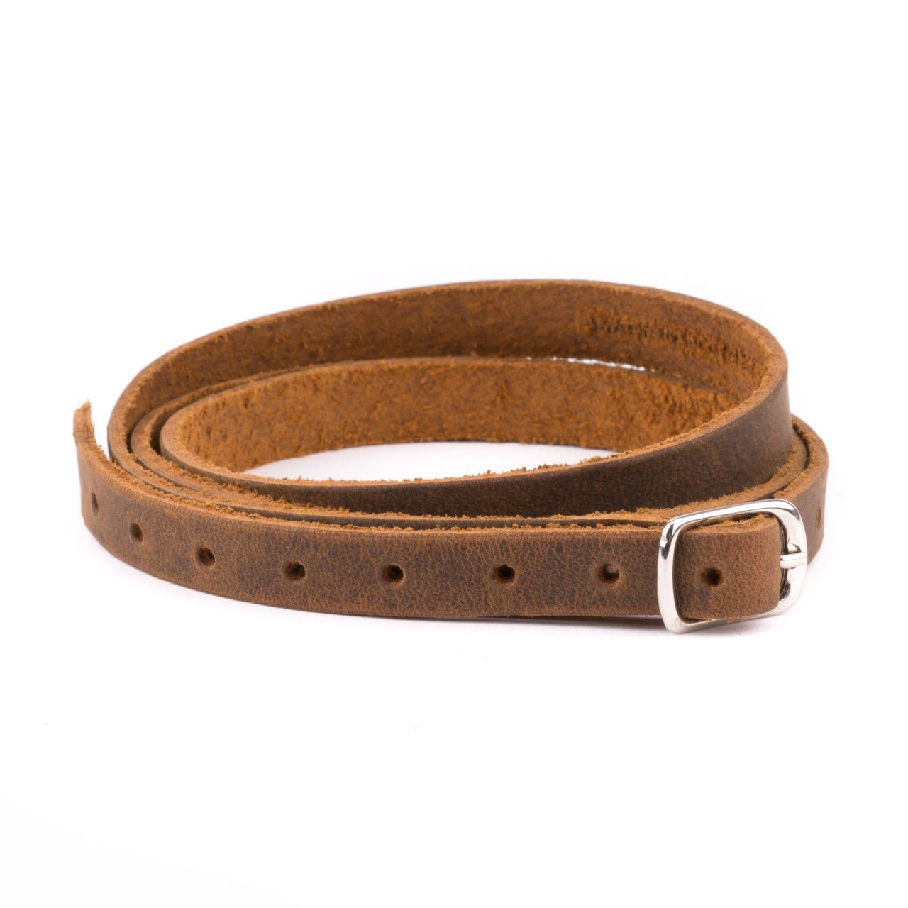 leather wrap bracelet in tobacco leather