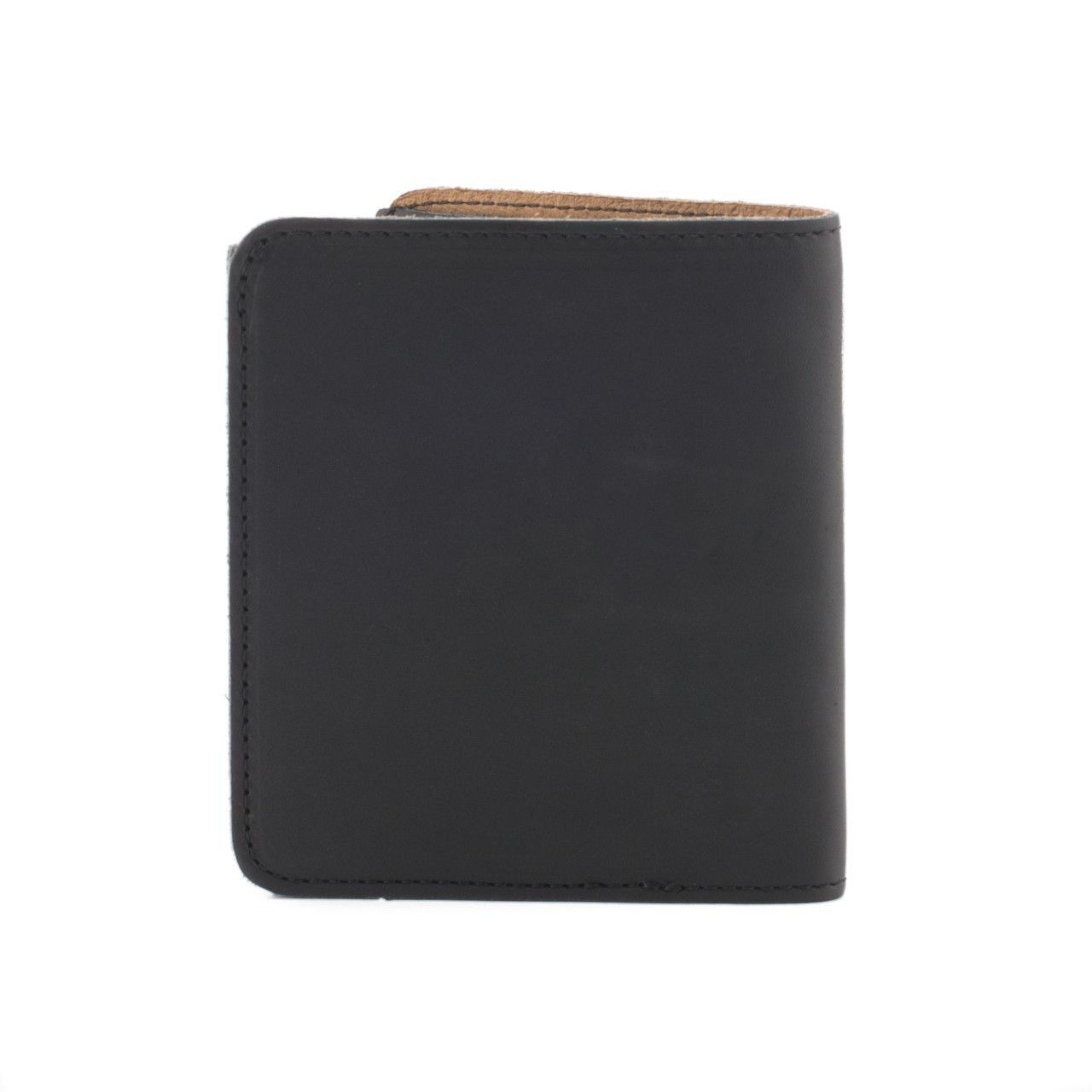 large leather bifold wallet large in black leather